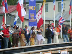Opening Ceremonies World Goldpanning Championship Dawson City 2007